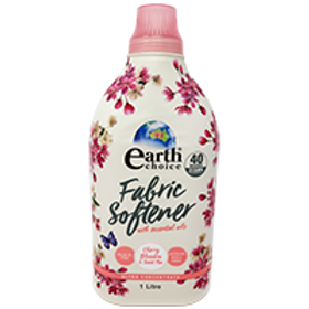 EARTH CHOICE FABRIC SOFTENER ULTRA CONCENTRATE CHERRY BLOSSOM & SWEET PEA 1L (PE