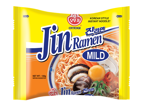 JIN RAMEN POUCH- MILD (E) 120G (20 PCS/CASE)