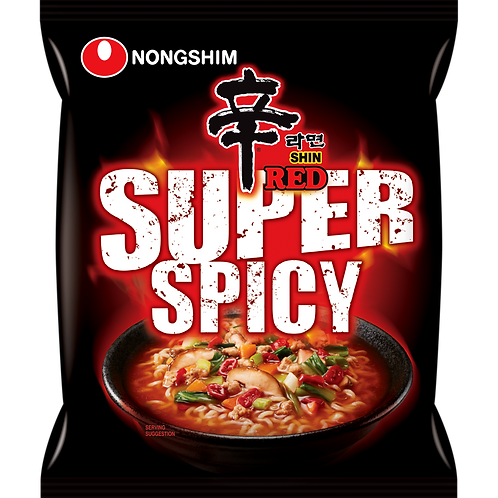 SUPER SPICY SHIN RAMYUN POUCH (E)120G/40 (40 PCS/BOX)