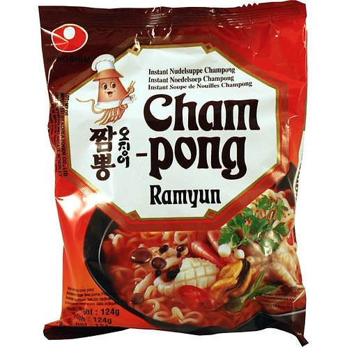 OJINGO CHAMPONG RAMYUN POUCH (E) 124G (20 PCS/CASE)