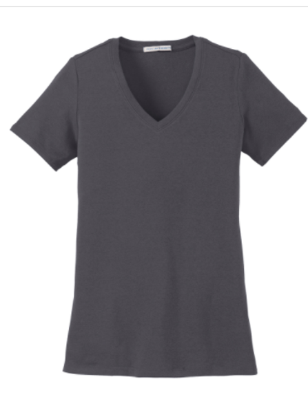 Ladies V-neck stretch tee