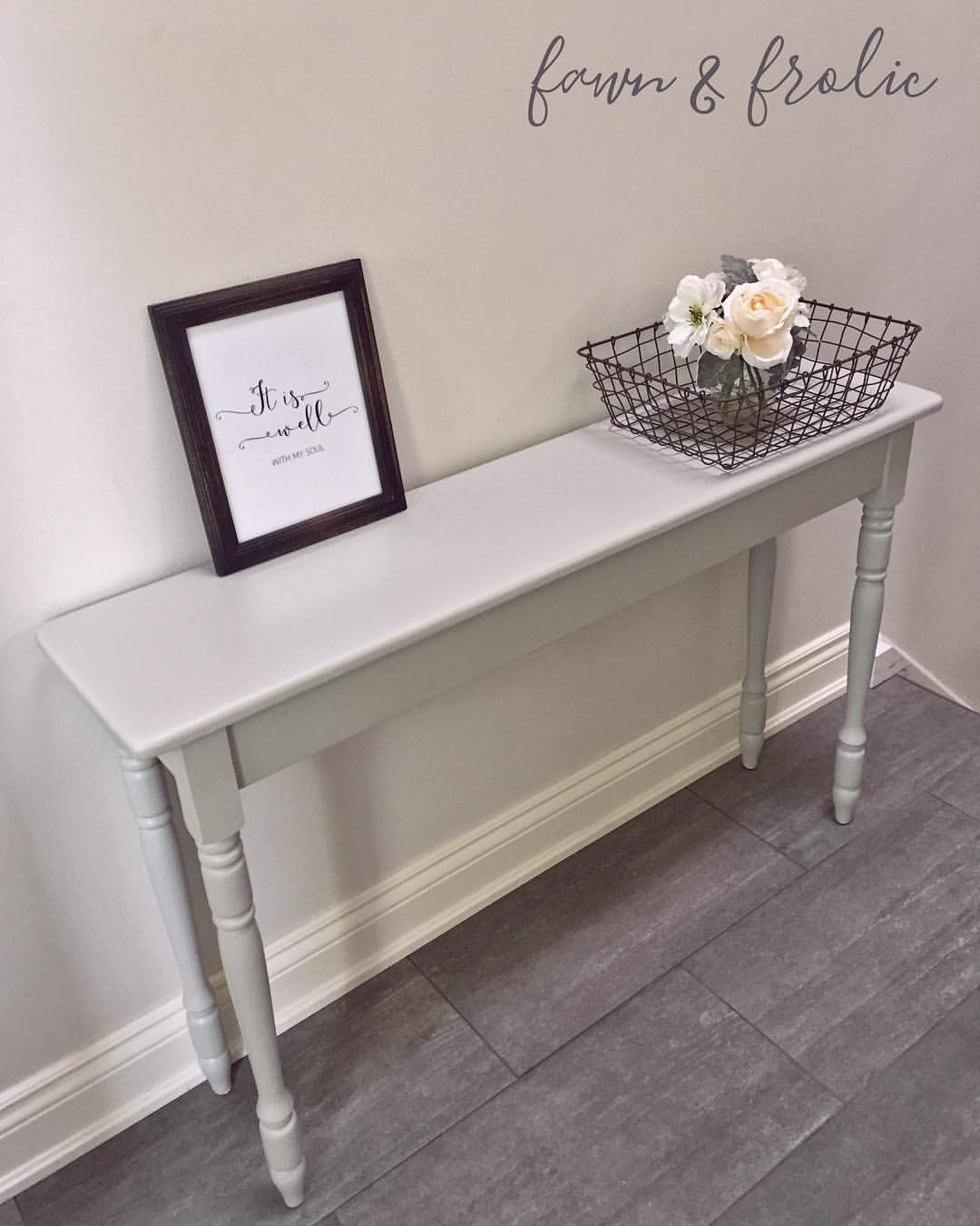 Grey Hall Table