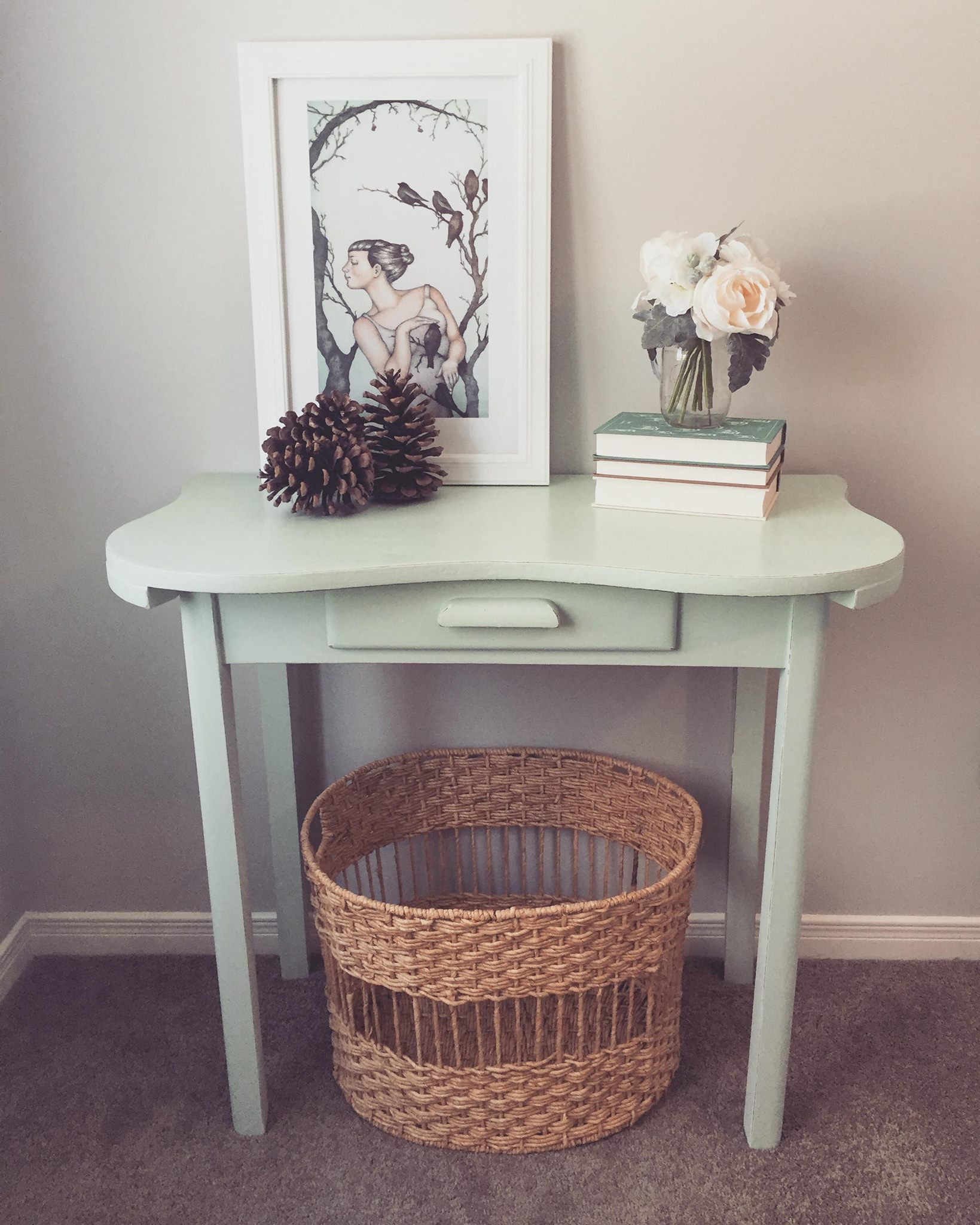 Minty Green Hall Table