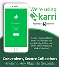 Karri app used at Little Ashfod schools for ease of payments