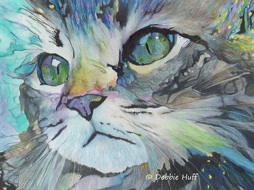 Crazy Cat-Print