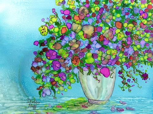 Flowers in Vase- Print