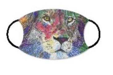 Face Mask w filter pocket-Lion