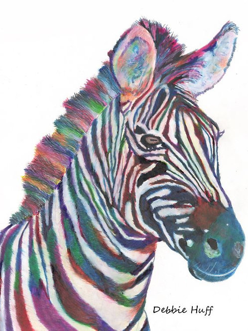 Zebra in Ink-Fine Art