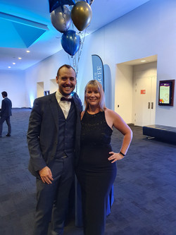Brisbane Magician Nathan Hedger with Tonia from Nudgee College