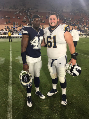 Apps in the NFL: Dallas Cowboys' Kennan Gilchrist, Rams' Parker Collins square off
