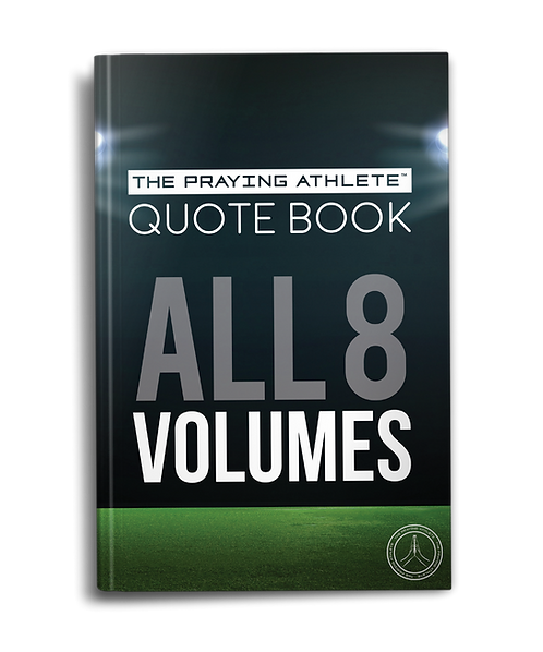 The Praying Athlete Quote Book All 8 Volumes