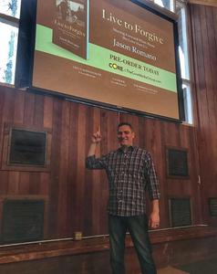 "Steve Zeller, author of ""Raising Boys The Zeller Way,"" speaks at Grace College in Winona Lake, Indiana."