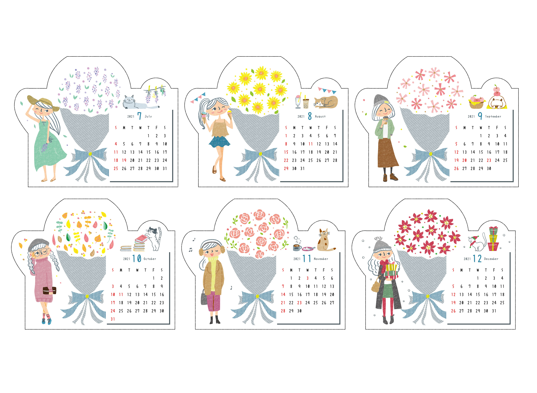 2021年カレンダーのデザイン&イラスト