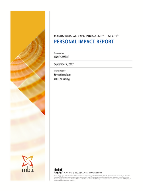 MBTI® Step I™ Personal Impact Report