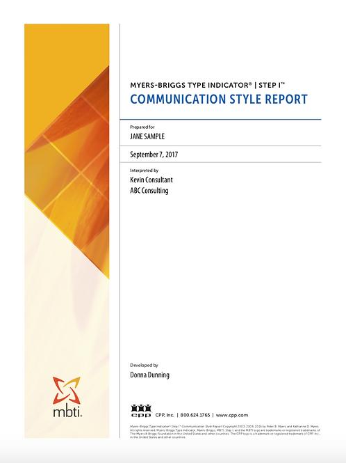 MBTI® Step I™ Communication Style Report