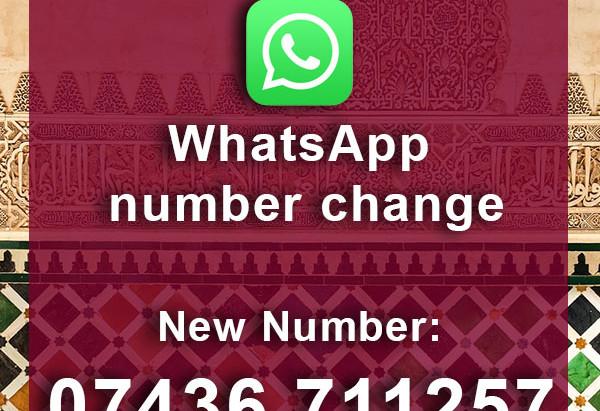 New WhatsApp number