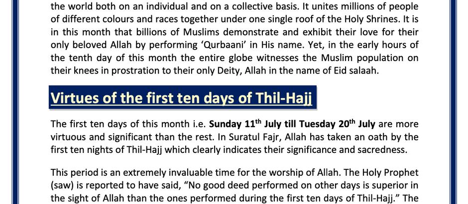 Thil-Hajj Newsletter