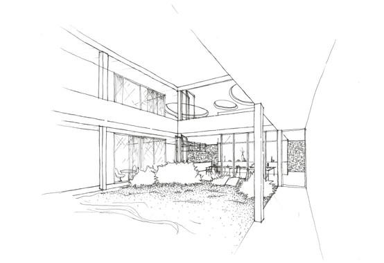 #architecture #california #dasbureau #model #house #Ojai #drawing #croquis