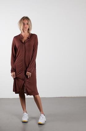 SHIRT DRESS burgundy