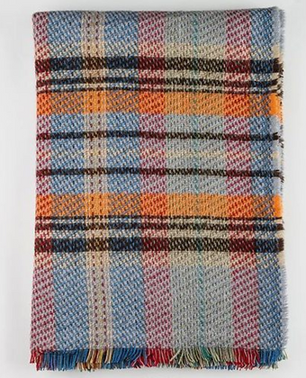 Sky / British Made 100% Recycled Wool Throw