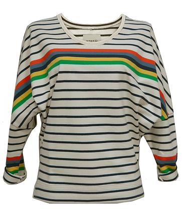 BAT SLEEVE sweater multi colour stripe