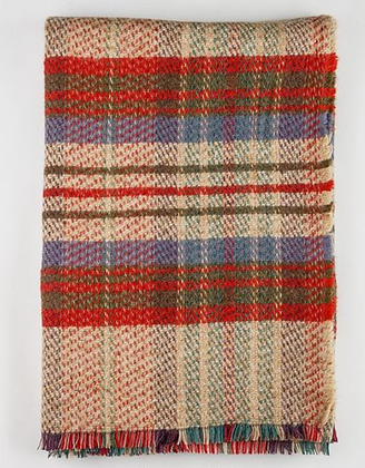 Coffee by the canal/ British Made 100% Recycled Wool Throw