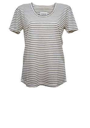 TEE stripe linnen/cotton