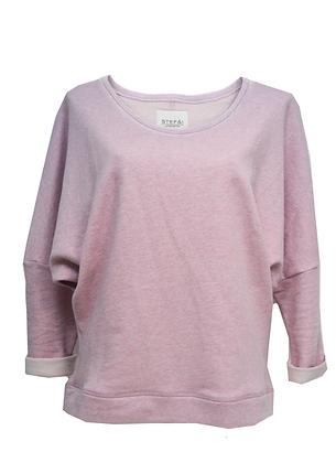 BAT SLEEVE sweater pink melange