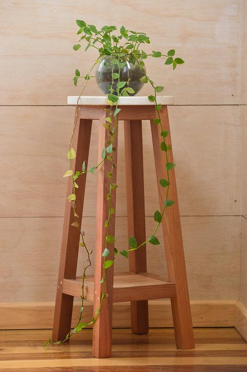 Piso para plantas de madera 90 cm