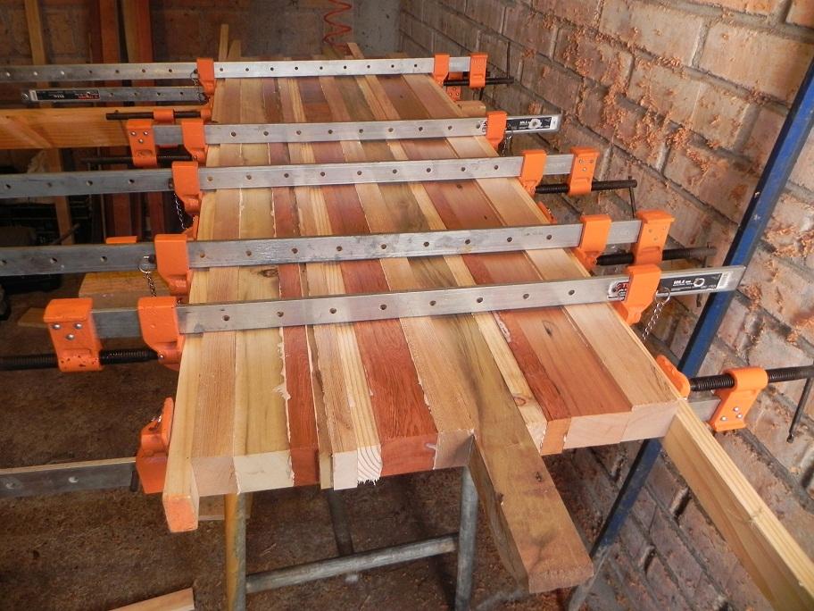 reciclaje rescate maderas nativas mesa de centro