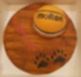Molten basketball fondant cake