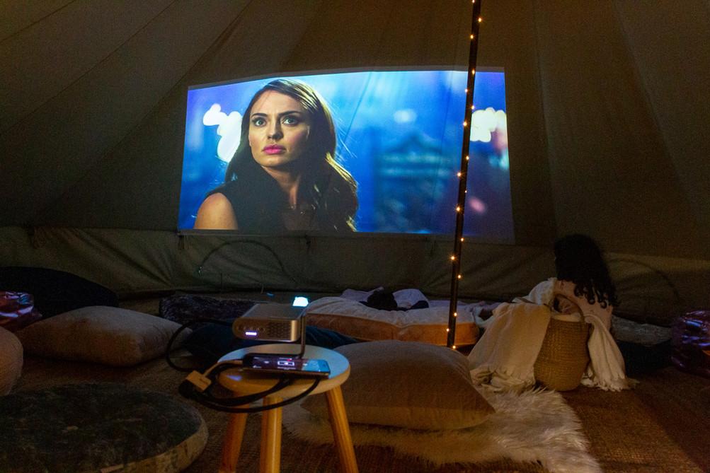 Tent Cinema Setup