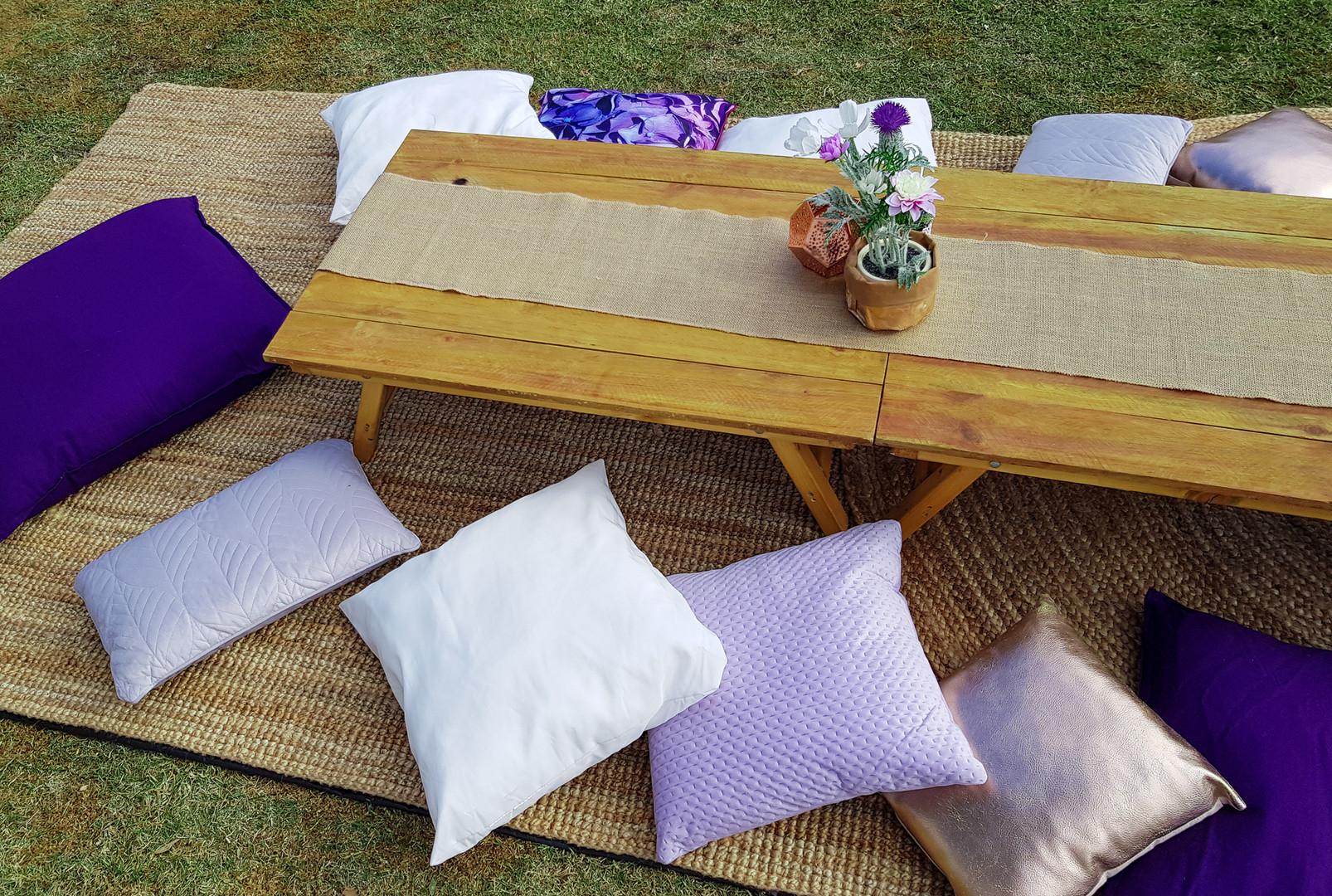 Purple Picnic setup