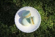 Mint colour macarons