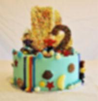 Vanilla buttercream Wiggles cake