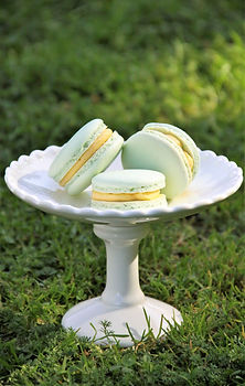 Mint Colour Macarons