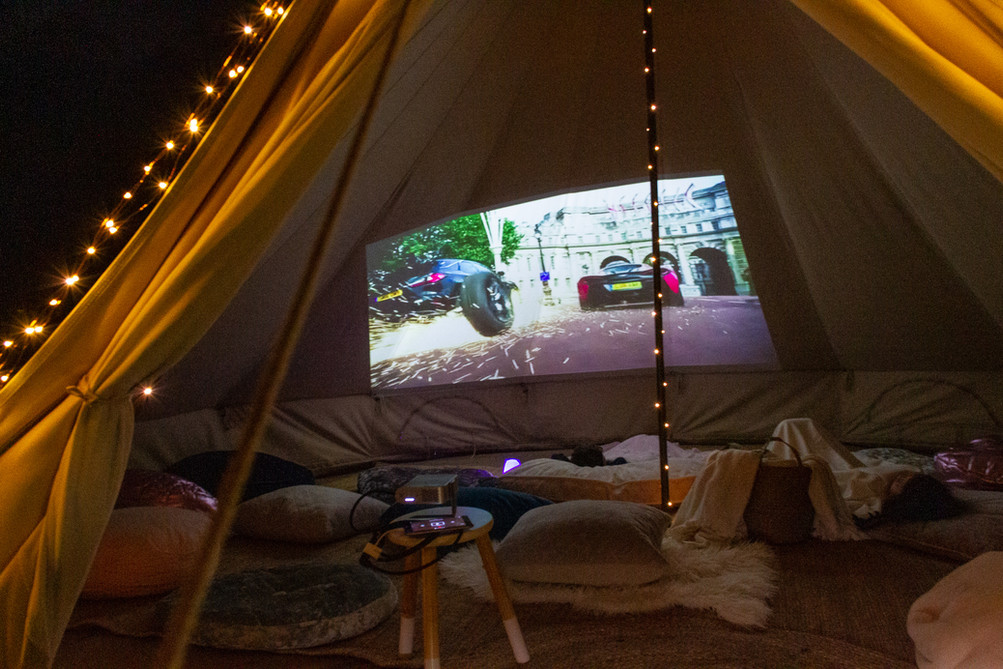 Backyard Movie Tent
