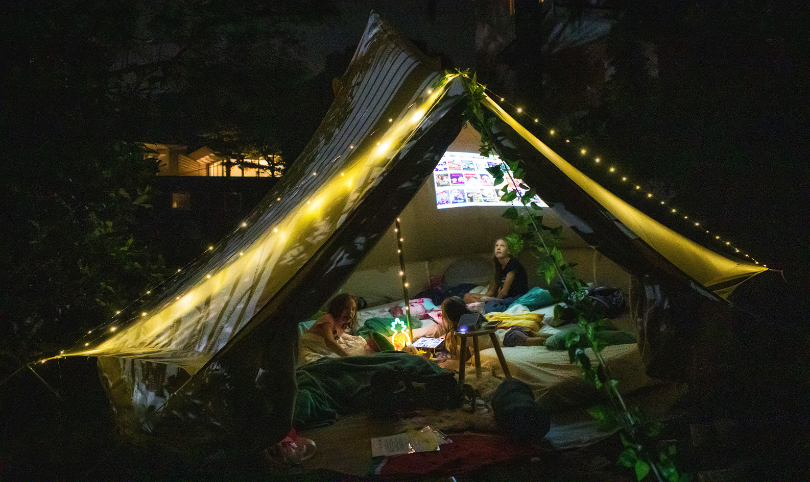 Night Time Movie Tent!