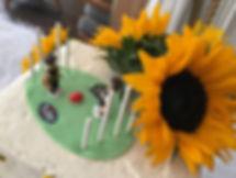 Sunflower cake with vanilla buttercream