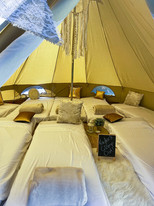 Inside one of our glamping Tents