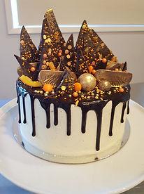 Choc orange drip cake