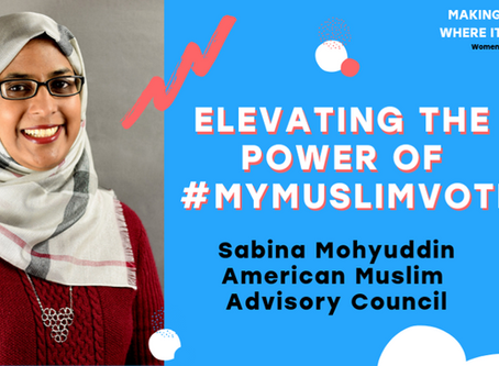 Civic Nation honors Program Manager Sabina Mohyuddin for Women's History Month.