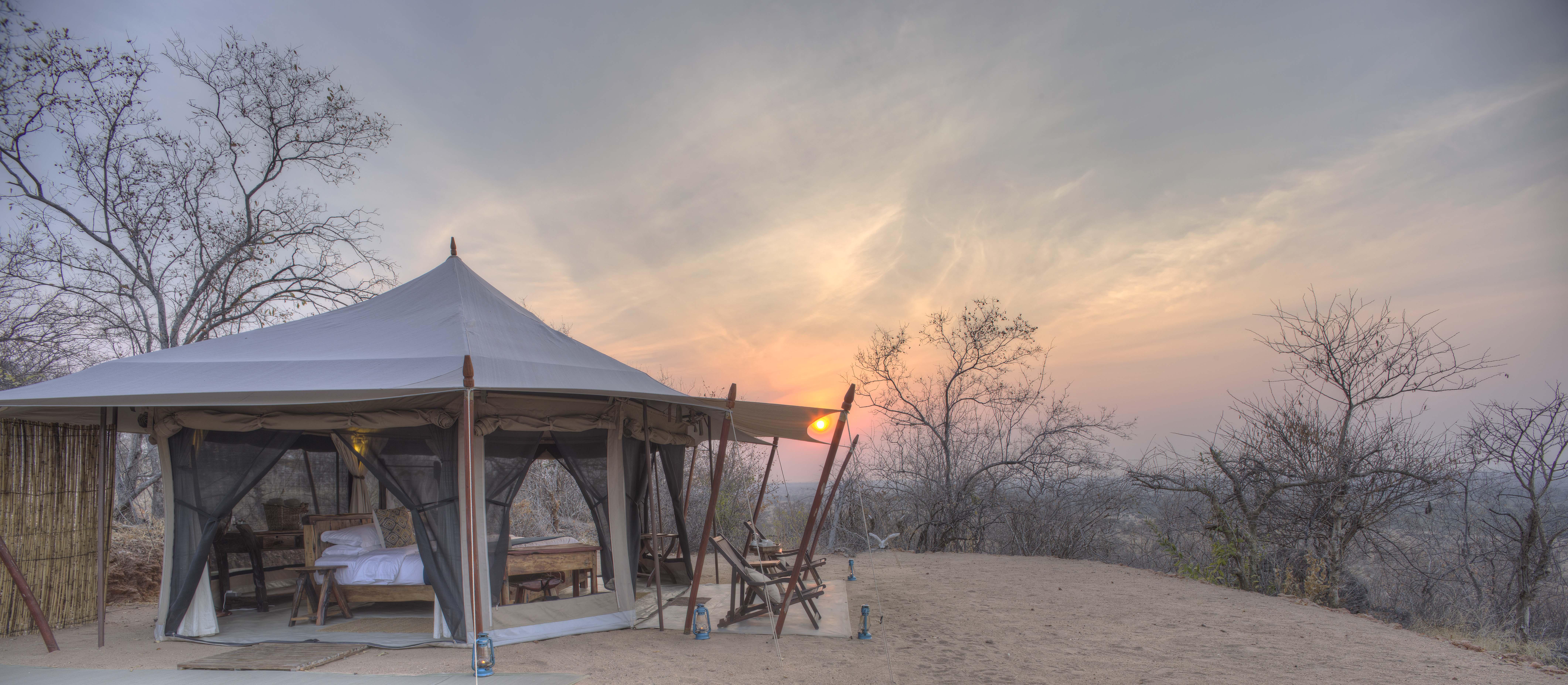 Kichaka Frontier Tent At Sunrise