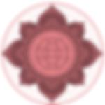 logo mandala nuance de rose et violet