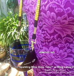 Wine Tote™ Bling Rhinestone Lanyard