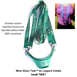 Wine Tote™ w/ printed lanyard & Holder