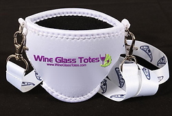 Neoprene Wine Glass Lanyard, Neoprene Wine Glass Necklace