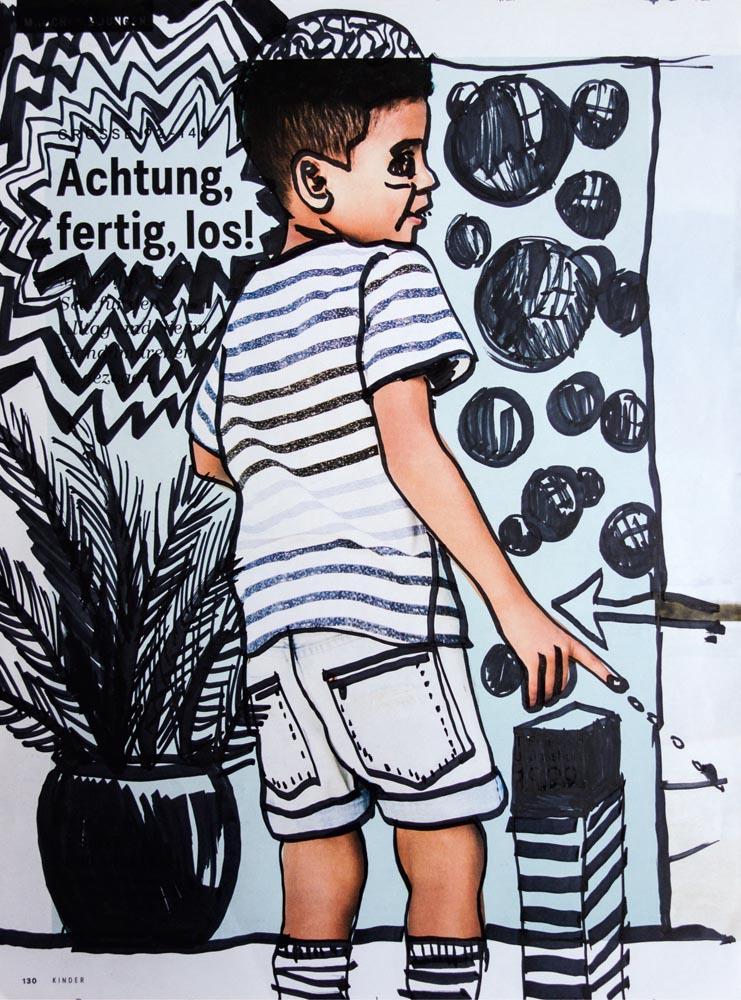 Achtung, fertig, los!, 20 ×26.5, 2018