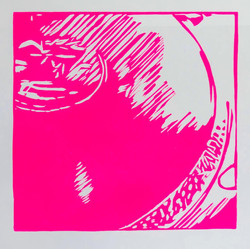 Here today...gone tomorrow , 2021, 25x31 cm, edition of 10 + 2 AP - Linoprint