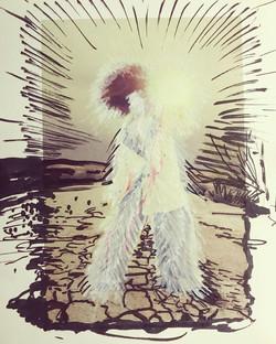 Slow starlight, 2021 Marker on Paper, 21x27,5 cm
